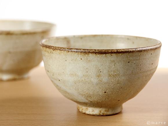 白釉飯茶碗